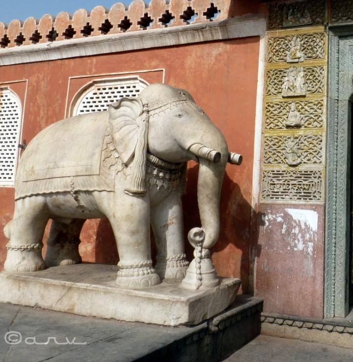 marble elephant Chaturbhuj Temple Jaipur