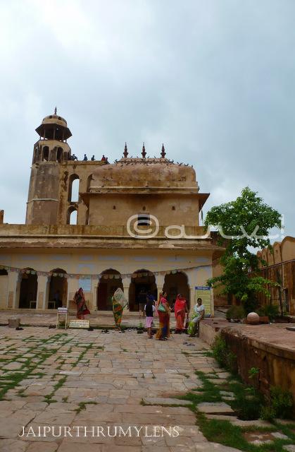 lord krishna temple charan mandir on nahargarh hills jaipur