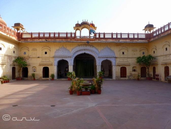 Main courtyard, Brijnidhi temple, Jaipur