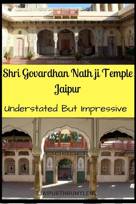 Shri Govardhan Nath ji Temple Jaipur Understated but impressive jaipurhrumylens #jaipur #temple #krishna #travel
