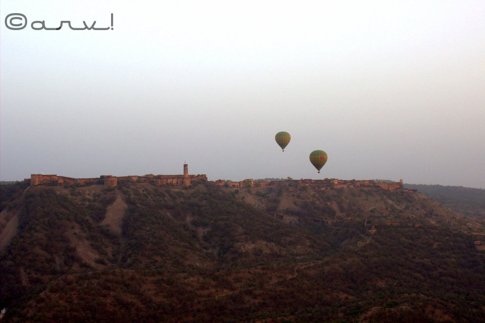 Sky waltz hot air balooning over Jaigarh fort