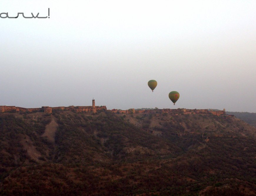 Sky waltz hot air balooning over Jaigarh fort
