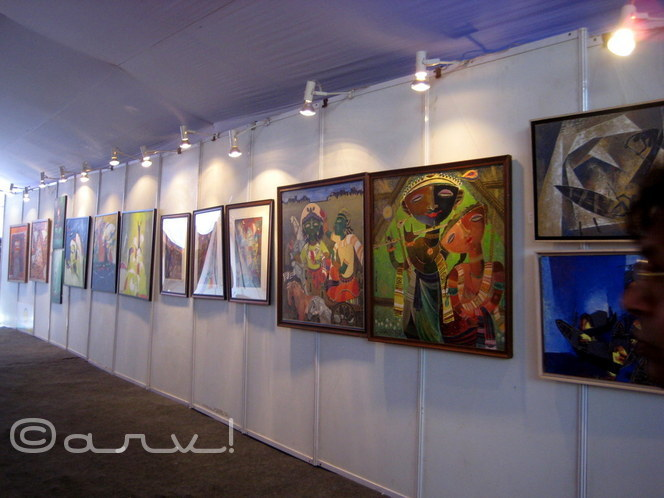 painters exhibition in jaipur at jaipur art summit