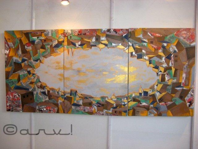 painting in jaipur art summit at jawahar kala kendra