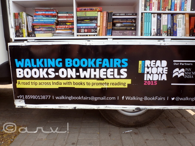 india's-first-walking-bookfair-by-akshay-and-shatabdi-from-orissa-in-jaipur-outside-home-cafe-jaipurthrumylens