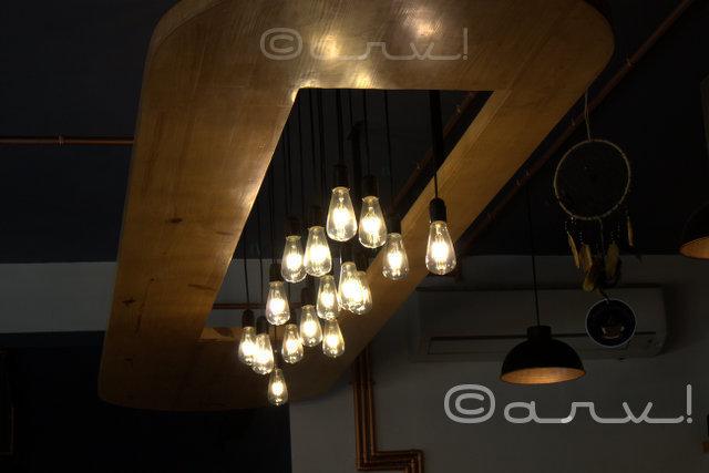 Rustic Light Fixtures Powder Room