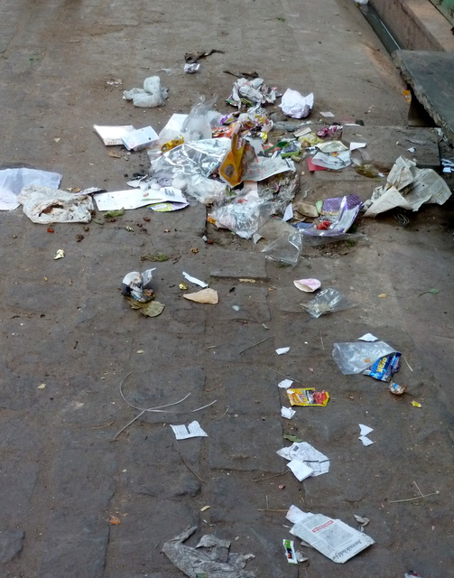 litter-trash-on-heritage-walk-in-jaipur