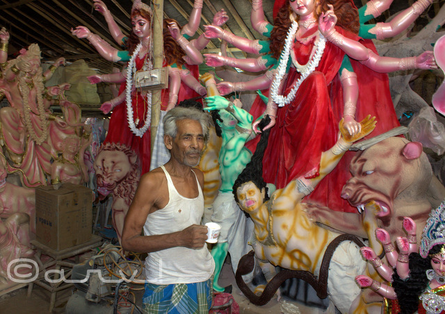durgapuja-begali-workers-in-jaipur