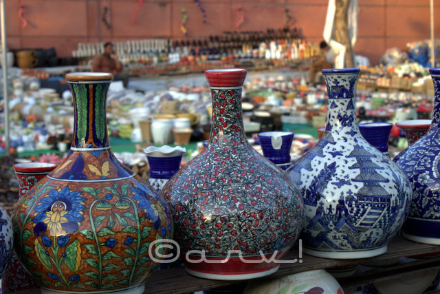 Khurja pottery for sale in exhibition at jawahar kala kendra jaipur