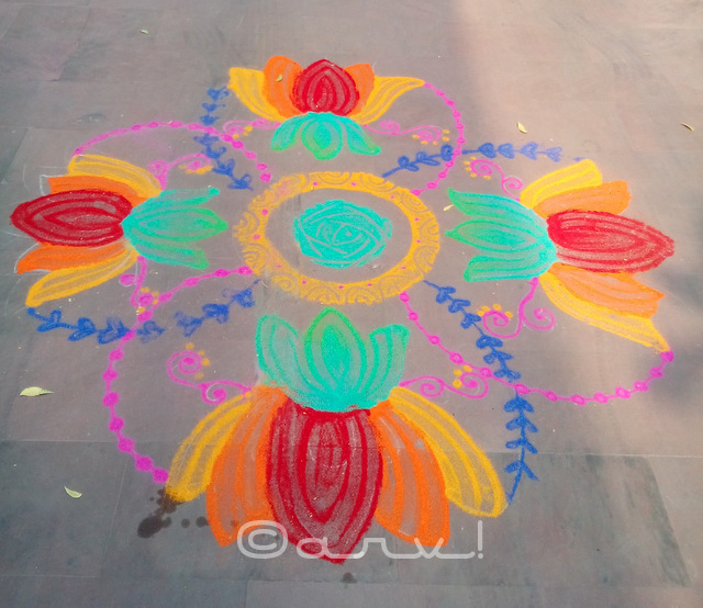 simple-indian-rangoli-design-for-diwali-jaipur-rajasthan-india