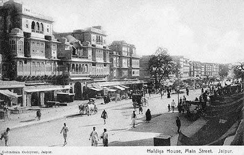 vintage picture of johari bazaar jaipur