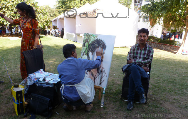 artist-live-portrait-painting-at-jaipur-art-summit
