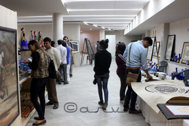 visitors-at-live-art-demonstration-jaipur-art-summit-2016-ravindra-manch