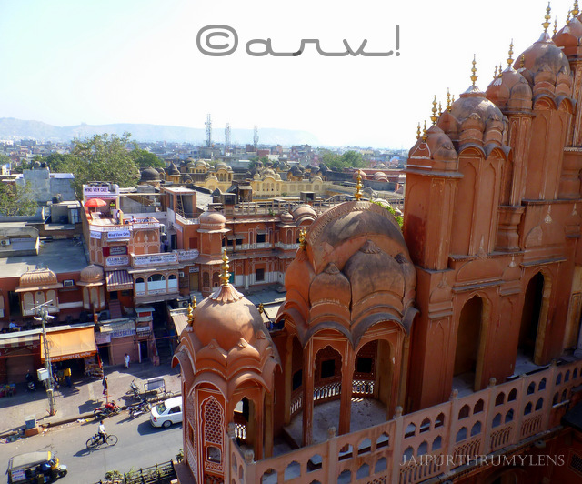 hawa mahal jaipur view from the top image overlooking the sirehdyodi bazaar jaipurthrumylens