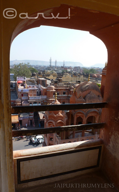 view from the hawa mahal jaipur image