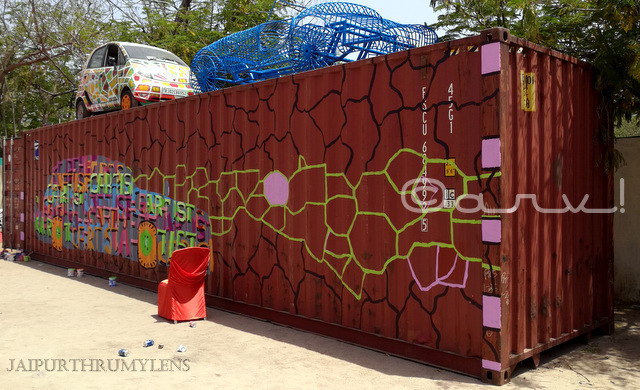 40 ft hq container painting at cartist jaipur
