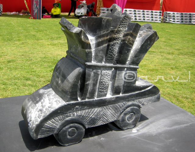 automobile sculpture art granite stone cartist jaipur