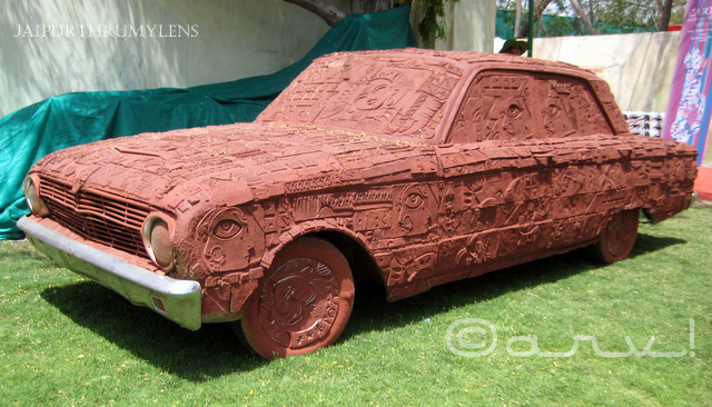 terracota car at cartist jaipur