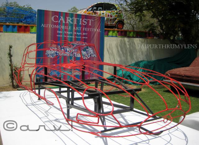 wire car cartist jai mahal palace jaipur 2017
