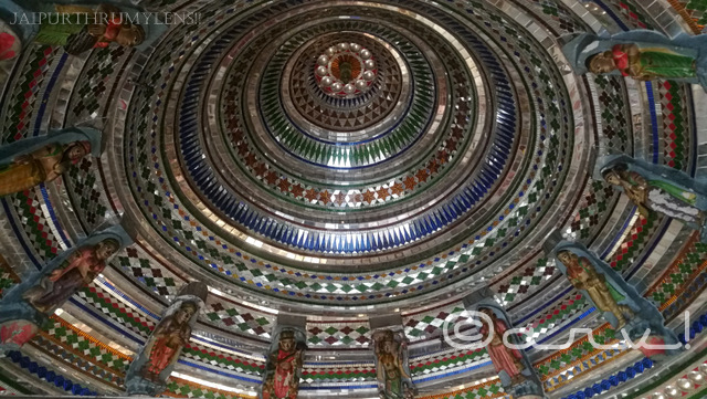 beautiful-colored-glass-work-in-cieling-ambikeshwar-mahadev-temple-amer-jaipur