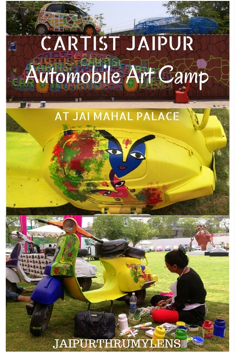 Cartist Jaipur Automobile Art Camp at Jai Mahal Palace #jaipur #art #painting #artist #cartist #automobile