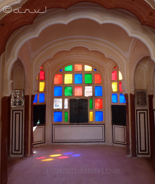 coloured-stain-glasses-ratan-mandir-inside-hawa-mahal-jaipur