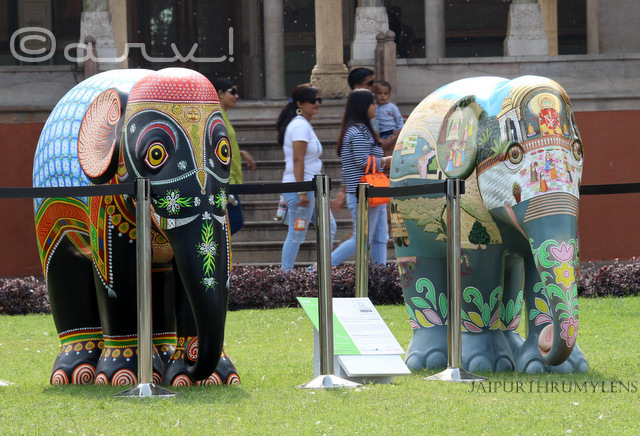 elephant-parade-albert-hall-museum-jaipur-elephant-family