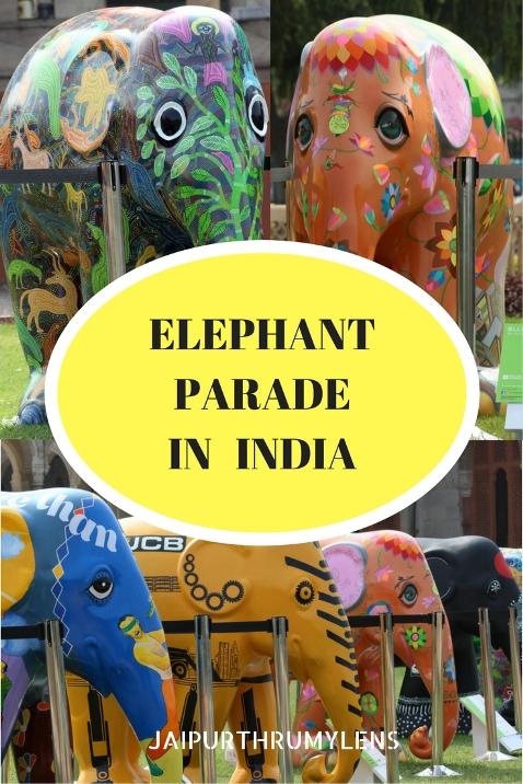 Elephant Parade India art on elephants Jaipur Jaipurthrumylens