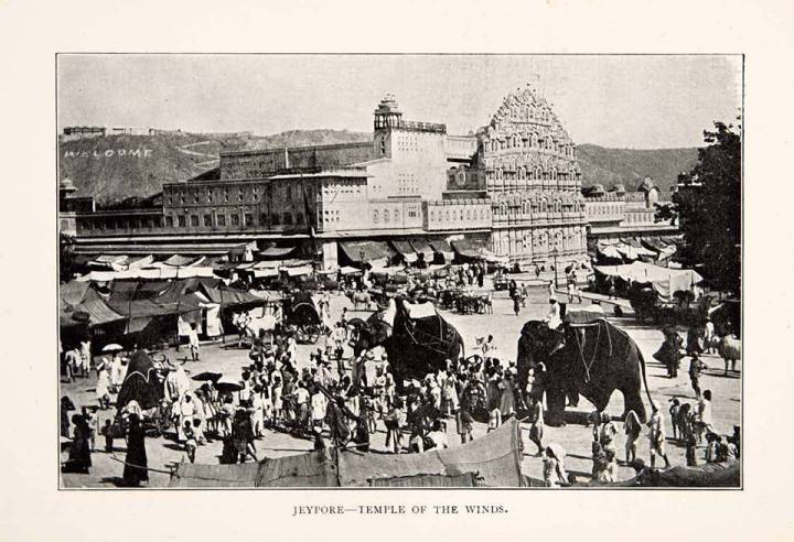 hawa-mahal-old-vintage-photo-1903-temple-of-winds