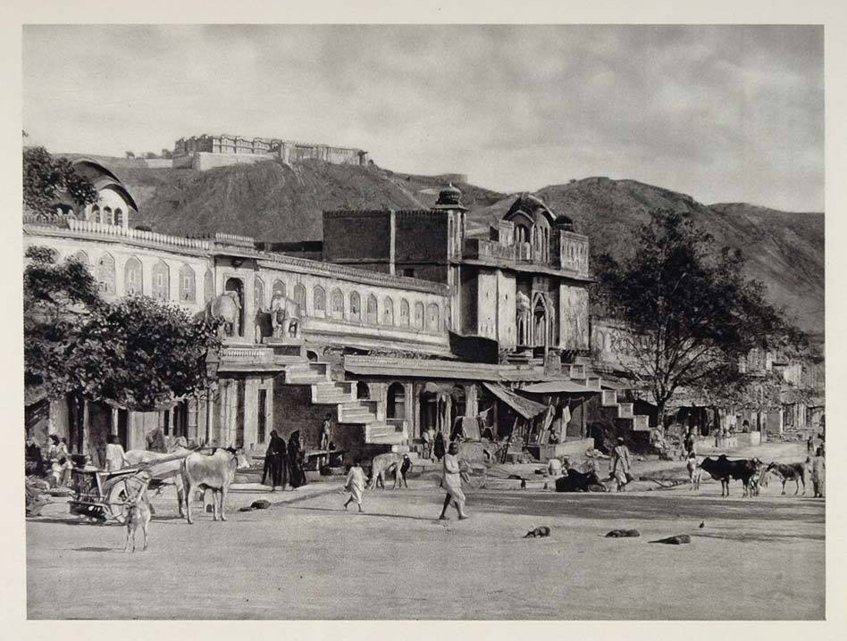 20th century photograph of Amer-Cahupar or Choti Chaupar in Jaipur