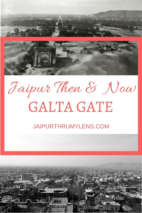 Jaipur Then and Now Galta Gate Sun Temple Galtaji #jaipur #oldphoto #travel #environment