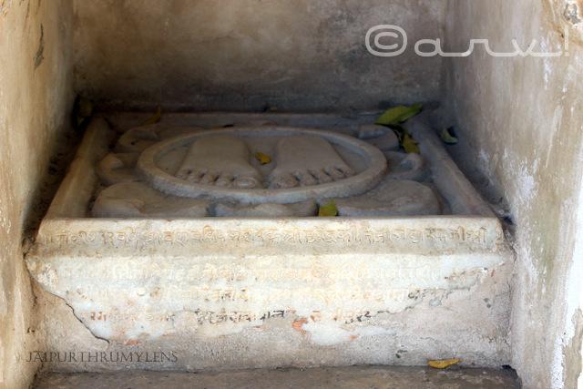 charan-paduka-image-bhattarak-digambar-jain-temple-amer-jaipur