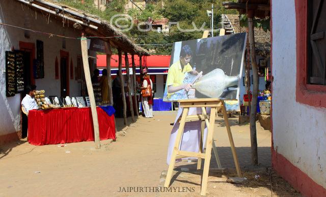 Ethnic village rajasthan hut shilpgram jawahar kala kendra jaipur