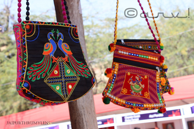 colourful handmade embroidered bags pichhwai artwork jaipur