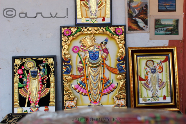 Pichhwai painting from Nathdwara Rajasthan for sale at kala mahotsav Jaipur