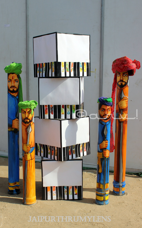 Rajasthan men turban art at kala mahotsav jaipur shilpgram jkk