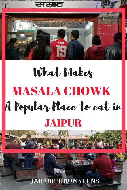 street food in Jaipur Masala Chowk