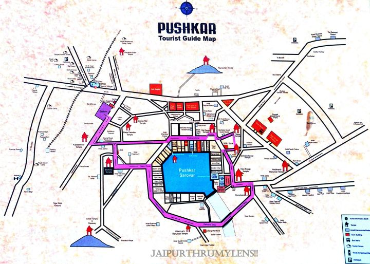 pushkar-map-tourist