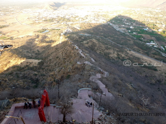 savitri-temple-pushkar-hiking-stairs-from height