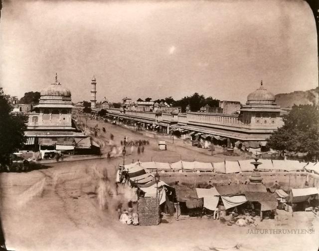 badi-chaupar-sawai-ram-singh-ii-jaipur-old-picture