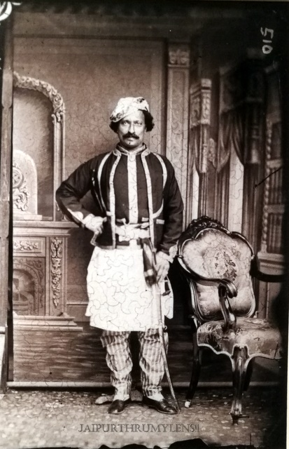 rajput-noble-jaipur-court-old-picture-sawai-ram-singh-ii