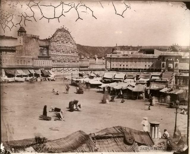 vintage-photo-jaipur-hawa-mahal-sawai-ram-singh-ii
