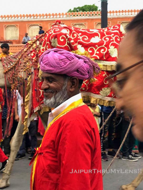 man in traditional dress in teej fstival jaipur