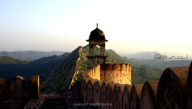 great-wall-amer-fort-jaipur-architecture